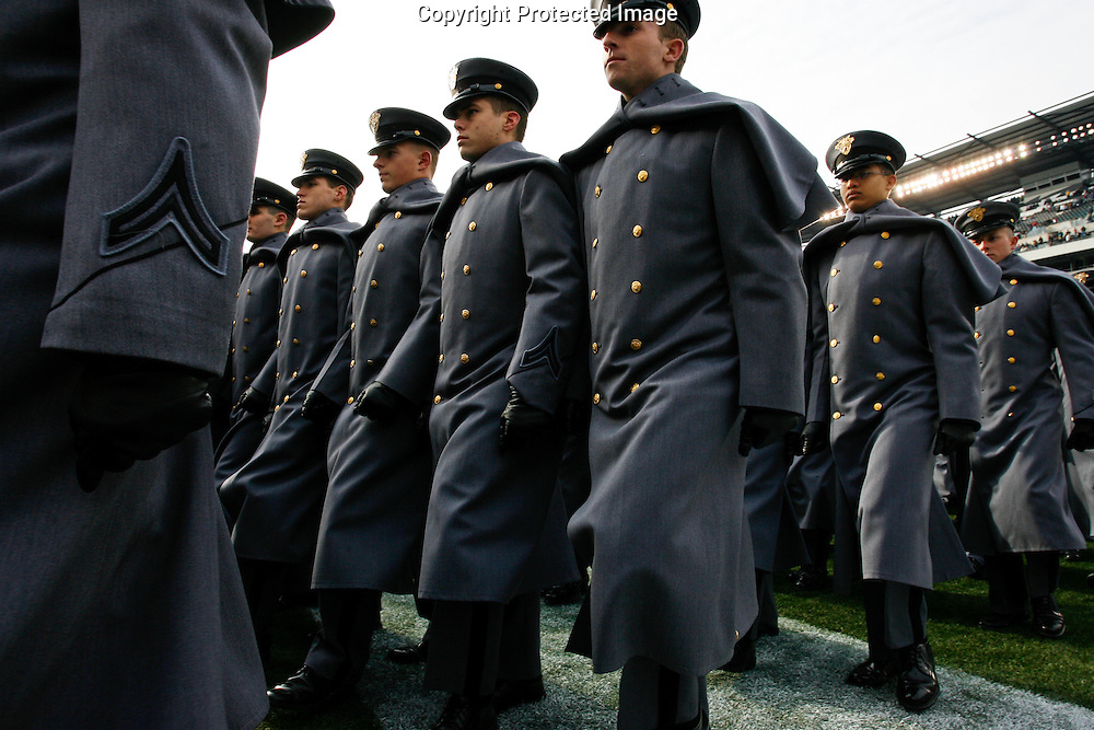 6 Dec 2008: Army Cadets exit the field before the Army / Navy game December 6th, 2008. At Lincoln Financial Field in Philadelphia, Pennsylvania.