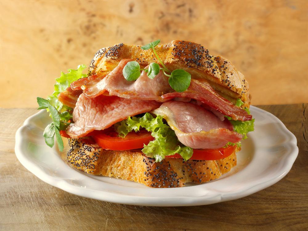 Traditional British Bacon Sandwich