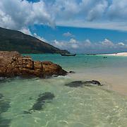 Rocks in the sea on Koh Lipe beach, Thailand