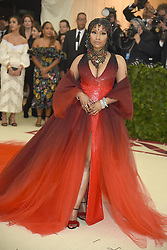 Nicki Minaj attends the Costume Institute Benefit at the Metropolitin Museum of Art at the opening of Heavenly Bodies: Fashion and the Catholic Imagination on May 7, 2018 in New York, New York, USA.
