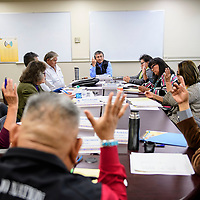 The Navajo Board of Election Supervisors takes a vote Thursday Oct. 25 at their regular meeting in Window Rock.