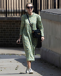 © Licensed to London News Pictures. 08/06/2021. London, UK. Carrie Johnson, newly wed wife of Prime Minister Boris Johnson, is seen walking in Westminster. This is the first time she has been seen in public since getting married in a secret ceremony on May 30th at Victoria Catherdral. Photo credit: George Cracknell Wright/LNP