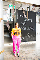 MADDISON GIBBS, 'The Spirits are restless', Boomalli Aboriginal Artists Co-operative, Loom at the first look and walk through with curator Aarna Hanley of NO SHOW, including a vibrant array of large-scale art installations, performances and screenings by more than 50 Australian artists<br /> <br /> WHEN: Friday 12 February, 10am-11am <br /> <br /> WHAT: Carriageworks, one of Australia's largest multi-arts precincts, unveils NO SHOW, a three-week presentation of projects by 11 artist-led initiatives from across NSW. Featuring the work of more than 50 largely early-career Australian artists and writers, NO SHOW will take over the Carriageworks Public Space, Bay 19 and public bathrooms from 12 February until 7 March 2021 with a constantly evolving display of art installations, screenings, performances and writer residencies.<br /> <br /> Presented free to the public, NO SHOW highlights the activities of artist-run spaces, cooperatives, digital platforms, online publications and studios in NSW, each presenting an independent program across the three weeks. Based locally, regionally and online, the invited organisations are ANKLES, Boomalli, Firstdraft, KNULP, Our Neon Foe, newly established Pari in Western Sydney, Prototype, digital publications Running Dog and Runway Journal, Studio A, and new regional initiative WAYOUT Artspace. <br /> Sydney-based architects Youssofzay + Hart have been commissioned to design a light, modular structure for the artists and writers to work within that is demountable and recyclable. Created using off-the-shelf materials, the discrete but connected spaces will support the program of exhibitions, screenings, residencies, talks and performances.