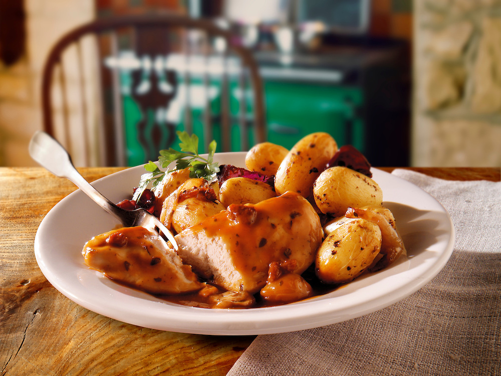 Poachers Chicken & potatoes