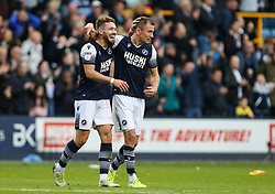 Jed Wallace and Tom Bradshaw of Millwall celebrate at the final whistle - Mandatory by-line: Arron Gent/JMP - 05/10/2019 - FOOTBALL - The Den - London, England - Millwall v Leeds United - Sky Bet Championship