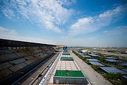 April 10-12, 2015: Chinese Grand Prix - Shanghai Intl Circuit grandstand and paddock atmosphere.