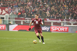 February 18, 2018 - Turin, Piedmont, Italy - Andrea Belotti (Torino FC) during the Serie A football match between Torino FC and Juventus FC at Olympic Grande Torino Stadium  on 18 February, 2018 in Turin, Italy. (Credit Image: © Massimiliano Ferraro/NurPhoto via ZUMA Press)