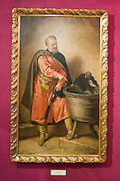 Painting of a Polish King on display in City of Krakow Historical Museum Poland