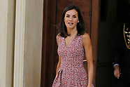 071919 Queen Letizia attends audiences at Zarzuela Palace