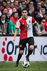 Kevin Diks of Feyenoord during the Dutch Eredivisie match between Feyenoord Rotterdam and FC Utrecht at the Kuip on April 15, 2018 in Rotterdam, The Netherlands