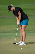 Olivia Mahaffey (a)(NIR) watches her putt on 2 during round 2 of the 2020 ANA Inspiration, Mission Hills C.C., Rancho Mirage, California, USA. 9/11/2020.<br /> Picture: Golffile | Ken Murray<br /> <br /> All photo usage must carry mandatory copyright credit (© Golffile | Ken Murray)