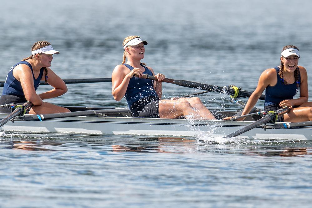 Caitlin O'Reilly , North Shore women's novice eight<br /> <br /> NZ National Club Rowing Championships, Lake Karapiro, Cambridge, New Zealand. Thursday 20th February 2020.  Copyright photo © Steve McArthur / www.photosport.nz
