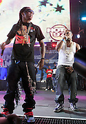 l to r: Lil Wayne and Shawty Lo at The 2008 Hot 97 Summer Jam held at Giants Stadium in Rutherford, NJ on June 1, 2008...Summer Jam is the annual hip-hop fest held at Giants Stadium and sponsored by New York based radio station Hot 97FM.