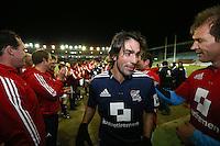 Rugby Union - 2012 Rugby Legends Match - British & Irish Legends vs. French Legends.French ex-footballer Robert Pires at Twickenham Stoop, London
