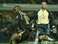 Photo: Aidan Ellis.<br /> Blackburn Rovers v Tottenham Hotspur. The Barclays Premiership. 19/11/2006.<br /> Spurs  Jermain Defoe celebrates the equaliser