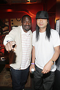 l to r: Corey Smyth and DJ Honda at The Black Star Concert presented by BlackSmith and Live N Direct held at The Nokia Theater in New York City on May 30, 2009