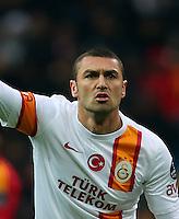 Turkey Superleague match between Kayserispor and Galatasaray at Kadir Has Stadium in Kayseri on 17.03.13<br /> Match Scored: Kayserispor 1 - Galatasaray 3<br /> Pictured: Burak Yilmaz of Galatasaray.