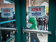04 NOVEMBER 2019 - GRINNELL, IOWA: People wait to hear Senator Elizabeth Warren at Grinnell. Sen. Warren brought her campaign to be the Democratic nominee for the US Presidency to the college town of Grinnell, Iowa, Monday. Iowa holds the first selection event of the 2020 presidential election cycle. The Iowa caucuses are Feb. 3, 2020.           PHOTO BY JACK KURTZ