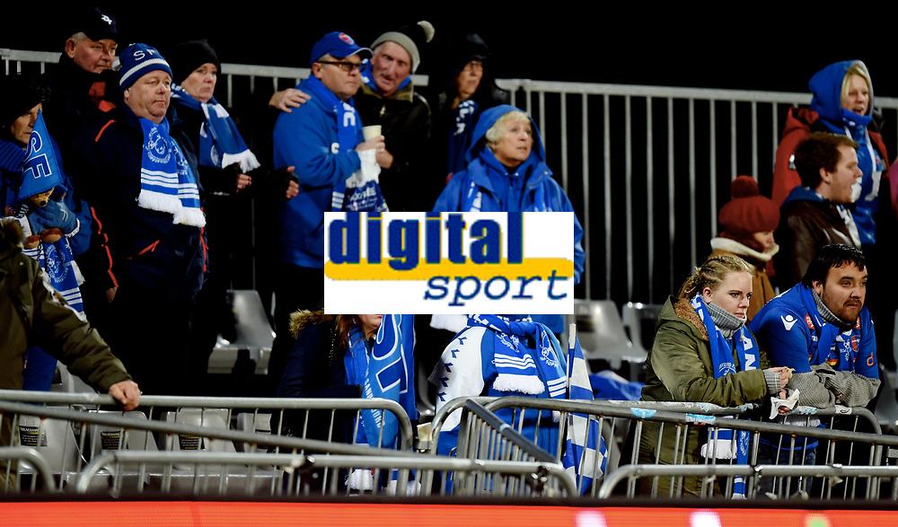 Fotball , 29 . oktober 2017 , Eliteserien , <br /> Sarpsborg - Sandefjord 5-0<br /> illustrasjon , blåhvalane på tur , kaldt , fan , fans
