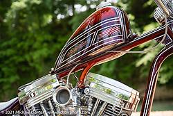 Brandon Keene's Keene Built drop-seat rigid 1984 custom Harley-Davidson Evo at the Tennessee Motorcycle and Music Revival at Loretta Lynn's Ranch. Hurricane Mills, TN, USA. Saturday, May 22, 2021. Photography ©2021 Michael Lichter.