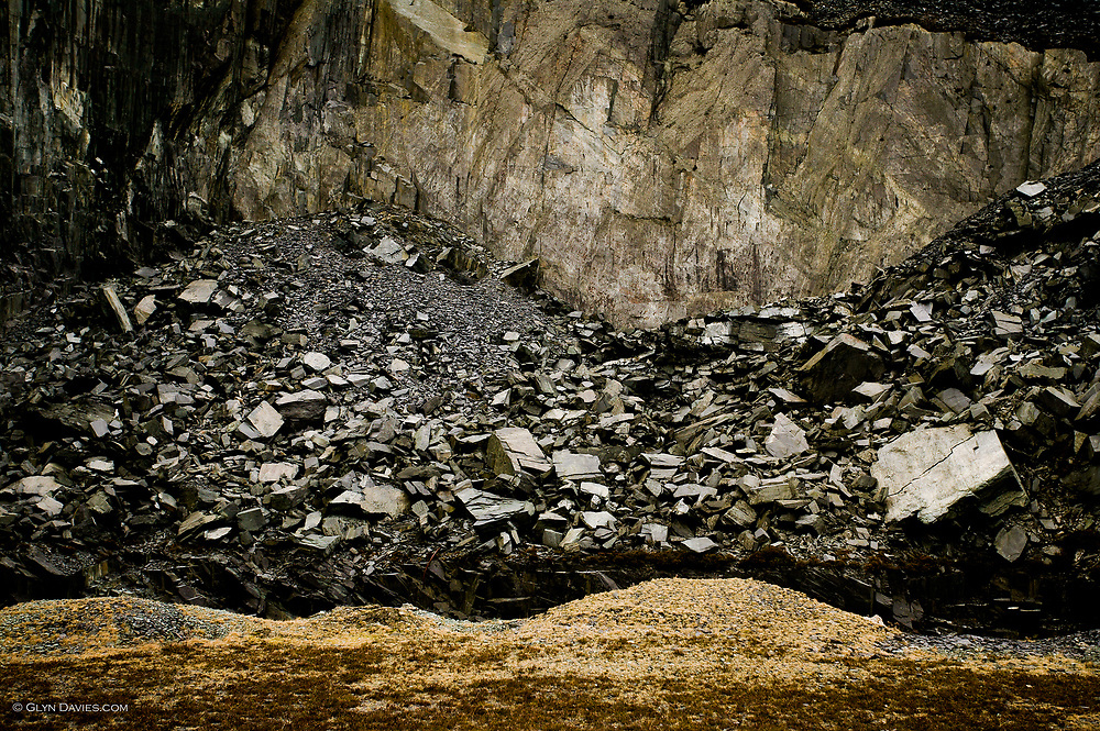 Abstract landscape in the Dinorwic Quarries near Llanberis, Snowdonia.<br /> <br /> UNESCO World Heritage Site