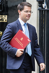 Downing Street, London, September 9th 2016.  Northern Ireland Secretary James Brokenshire leaves 10 Downing Street following the weekly cabinet meeting.