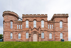 Exterior of Inverness Castle and Sheriff Court on the North Coast 500 scenic driving route in northern Scotland, UK