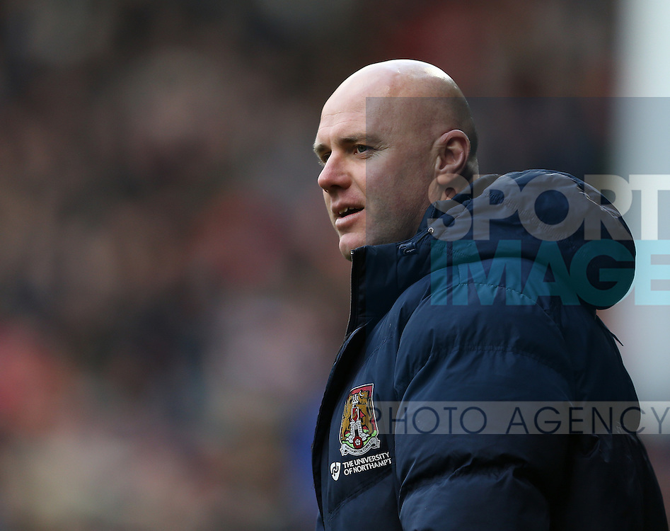 Robert Page manager of Northampton during the English League One match at Bramall Lane Stadium, Sheffield. Picture date: December 31st, 2016. Pic Simon Bellis/Sportimage