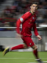 March 22, 2019 - Lisbon, Portugal - Cristiano Ronaldo of Portugal and Juventus during the Euro 2020 qualifying football match Portugal vs Ukraine at Luz stadium in Lisbon on March 22, 2019. (Credit Image: © Filipe Amorim/NurPhoto via ZUMA Press)
