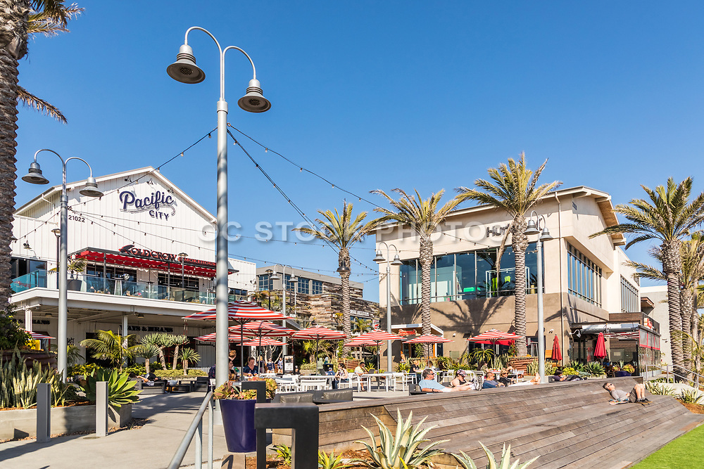 Pacific City Outdoor Shopping Mall And Restaurants