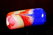 Handmade colourful glass bead
