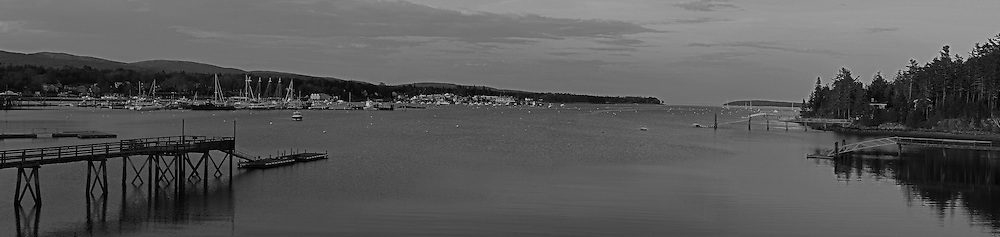 B&W Maine panorama photography of Southwest Harbor, nestled into the granite seacoast away from the Atlantic Ocean on Mount Desert Island. This harbor as part of small coastal villages along the coastal areas of MDI is quintessential Maine. <br /> This classic New England harbor photography image is available as museum quality photography prints, canvas prints, acrylic prints or metal prints. Fine art prints may be framed and matted to the individual liking and decorating needs:<br /> <br /> http://juergen-roth.pixels.com/featured/mount-desert-island-black-and-white-panorama-juergen-roth.html<br /> <br /> Good light and happy photo making! <br /> <br /> My best, <br /> <br /> Juergen<br /> Website: www.RothGalleries.com<br /> Twitter: @NatureFineArt<br /> Facebook: https://www.facebook.com/naturefineart<br /> Instagram: https://www.instagram.com/rothgalleries<br /> Photo Blog: http://whereintheworldisjuergen.blogspot.com