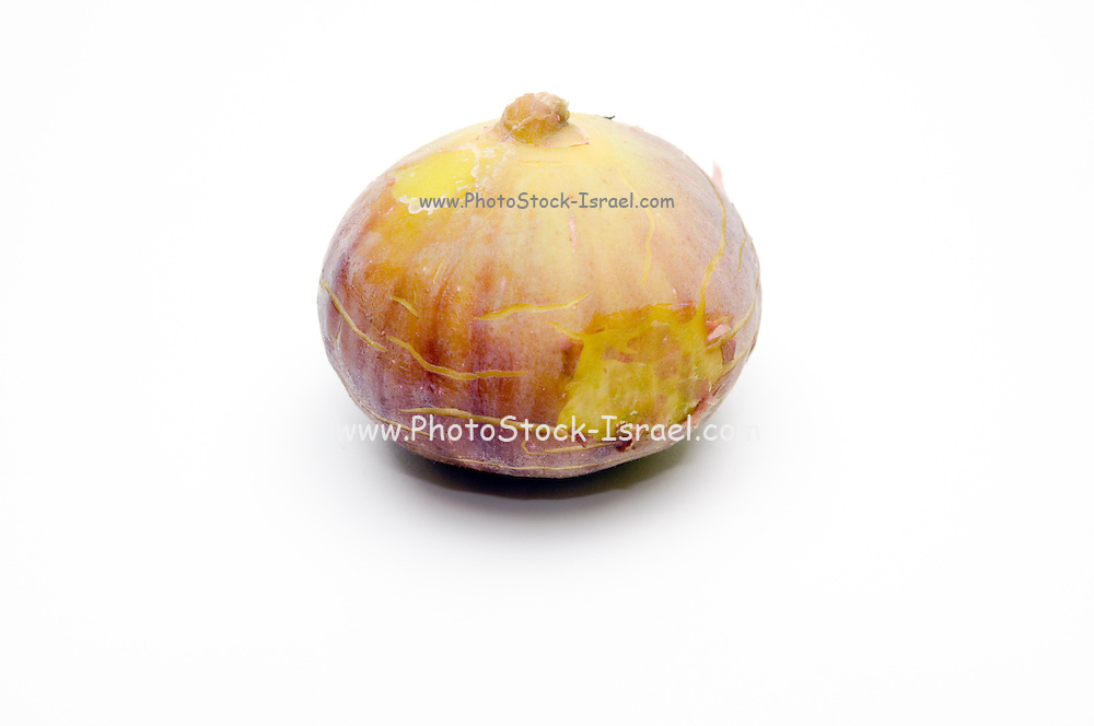 Fresh ripe figs on white background