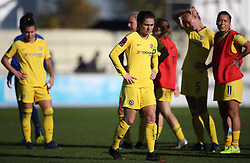 Chelsea's Karen Carney shows her dejection after the Women's Super League match at the Automated Technology Group Stadium, Solihull.