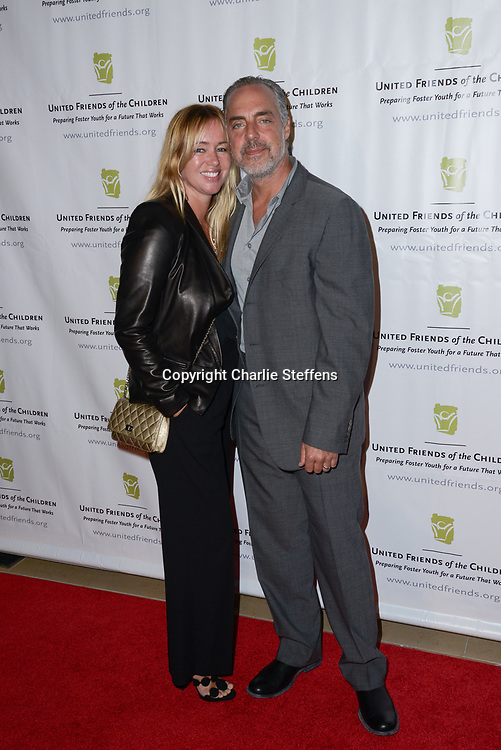 JOSE STEMKENS (L) and TITUS WELLIVER at the United Friends of the Children's 12th Annual Brass Ring Awards Dinner at The Beverly Hilton Hotel in Los Angeles, California