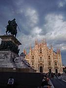 Milan, the Duomo before a raistorm