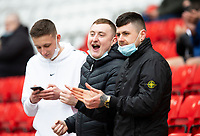 Football - 2020 / 2021 Sky Bet League One - Play-offs - Semi-final, second leg - Sunderland vs Lincoln City - Stadium of Light<br /> <br /> Sunderland fans gather for the game <br /> <br /> Credit : COLORSPORT/BRUCE WHITE