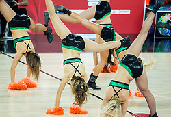 Cheerleaders Escape perform during basketball match between Slovenia vs Greece at Day 5 in Group C of FIBA Europe Eurobasket 2015, on September 9, 2015, in Arena Zagreb, Croatia. Photo by Vid Ponikvar / Sportida