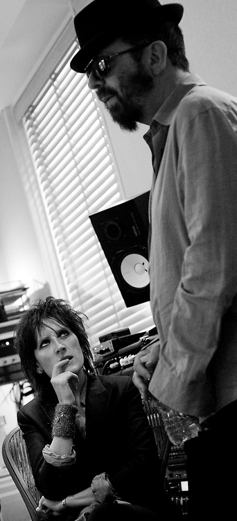 Los Angeles, California, USA, 19th February 2010:  Australian singer/songwriter Mia Dyson at work  at her new home Weapons of Mass Entertainment in Los Angeles, California.  Mia has moved to LA to try and launch herself internationally following an award winning career in Australia and 12 months spent playing on the east coast of America..Photo: Joseph Feil