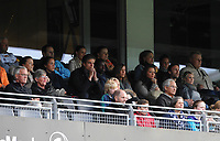Fotball Tippeligaen Rosenborg - Hønefoss<br /> 16 mai 2012<br /> Lerkendal Stadion, Trondheim<br /> <br /> Rosenborgs Markus Henriksen og Rade Prica satt på tribunen. Markus er skadet og Rade må stå over pga rødt kort i forrige kamp<br /> <br /> <br /> Foto : Arve Johnsen, Digitalsport