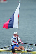 Tampere Kaukajaervi,  FINLAND. Single Scull World Champion Iztok COP competing at the  1995 World Rowing Championships - Lake Tampere, 08.1995<br /> <br /> [Mandatory Credit; Peter Spurrier/Intersport-images] Re-Edited and file ref No. updated, 16th January 2021.