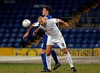 Photo: Daniel Hambury.<br />Crystal Palace v Preston North End. The FA Cup. 07/02/2006.<br />Palace's Mark Hudson and Preston's match winner Daniel Dichio battle for the ball.