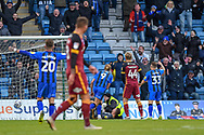 Gillingham FC forward Tom Eaves (9) scores a goal (4-0) and celebrates during the EFL Sky Bet League 1 match between Gillingham and Bradford City at the MEMS Priestfield Stadium, Gillingham, England on 27 October 2018.
