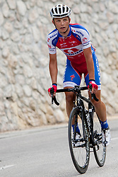 Klemen Stimulak (SLO) of Adria Mobil during 3rd Stage Skofja Loka - Vrsic (170 km) at 20th Tour de Slovenie 2013, on June 15, 2013, in Skofja Loka, Slovenia. (Photo by Vid Ponikvar / Sportida.com)