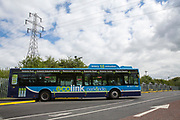 One of Nottingham's zero emission buses which is part of the Robin Hood Network in Nottingham, Nottinghamshire, United Kingdom. The electric buses are part of Nottingham City Council's scheme to clean up the city air. (photo by Andrew Aitchison / In pictures via Getty Images)