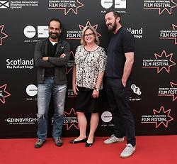 Edinburgh International Film Festival, Thursday 22nd June 2017<br /> <br /> Juror's photocall<br /> <br /> Simon El Habre, Wendy Mitchell and Ralph Ineson<br /> <br /> (c) Alex Todd   Edinburgh Elite media