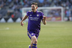 March 17, 2018 - New York, New York, United States - Sacha Kljestan (16) of Orlando City SC chases ball during regular MLS game against NYC FC at Yankee stadium NYC FC won 2 - 0 (Credit Image: © Lev Radin/Pacific Press via ZUMA Wire)