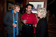 JOHNNY FLYNN; MARK RYLANCE, Opening in the West end of the Royal Court's Jerusalem after a run on Broadway..<br /> WAXY O CONNORS, 14-16 RUPERT STREET, LONDON . 17 October 2011.  <br /> <br />  , -DO NOT ARCHIVE-© Copyright Photograph by Dafydd Jones. 248 Clapham Rd. London SW9 0PZ. Tel 0207 820 0771. www.dafjones.com.