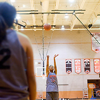 111512       Cable Hoover<br /> <br /> Gallup Bengal Ni'Asia McIntosh fires off a free throw during practice at Gallup High School Thursday.