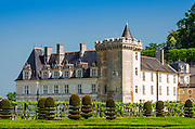 Chateau de Villandry and gardens, Villandry, Loire Valley, France